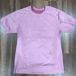 Lululemon Metal Vent T Shirt Pink Medium